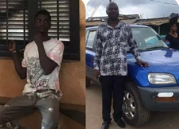 Photos of a suspected thief and his victim