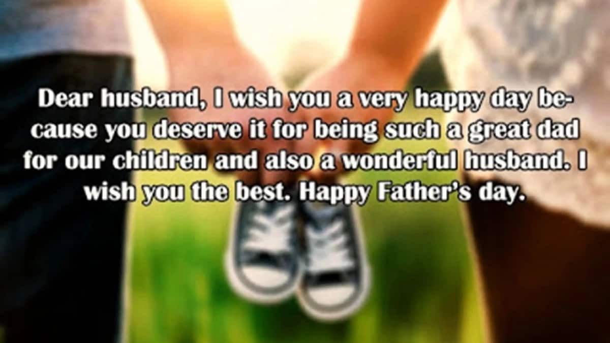 father's day message from wife