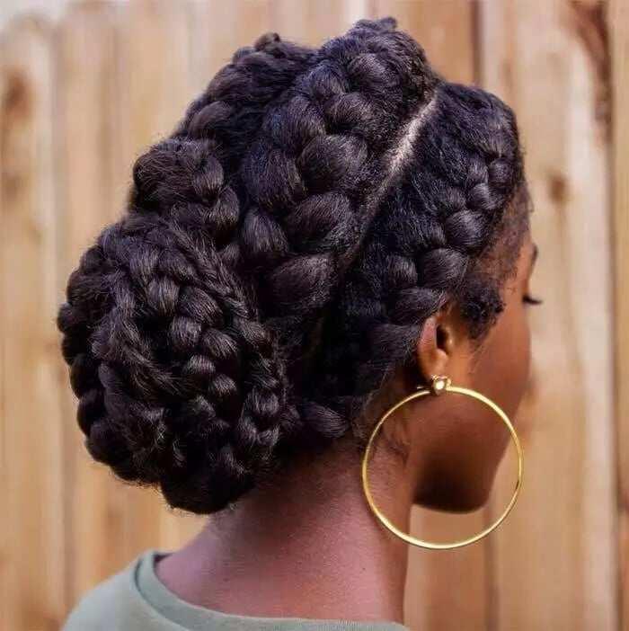 3 goddess braids