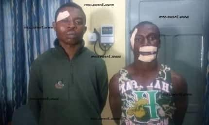 Two Nigerians have just been arrested for daylight robbery near Flagstaff House.