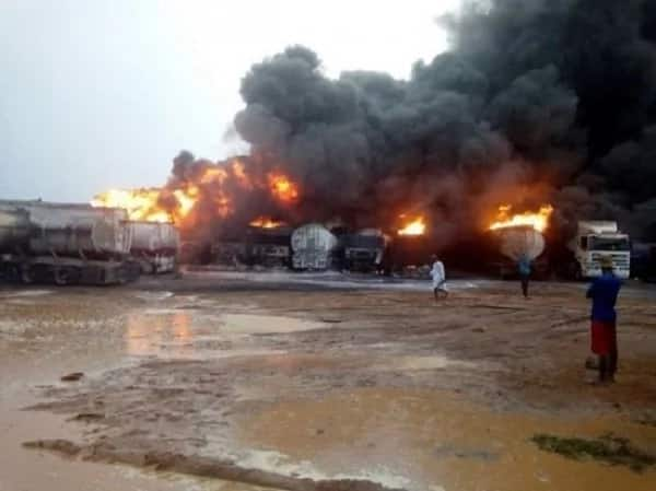 Officials from the Ghana National Fire Service begin formal investigations into the Atomic junction explosion