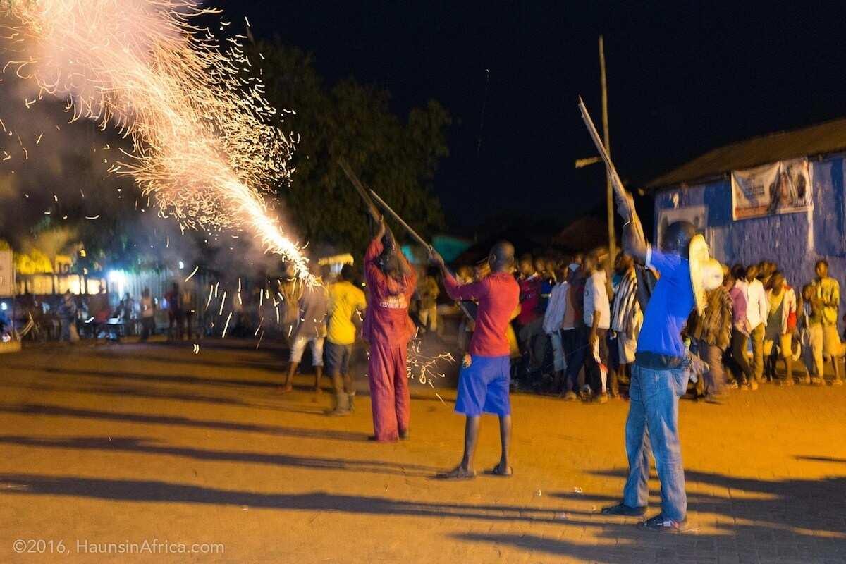 People celebrating a festival
