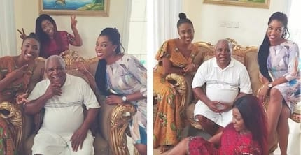 Photos: Yvonne Okoro and her sisters show off their father