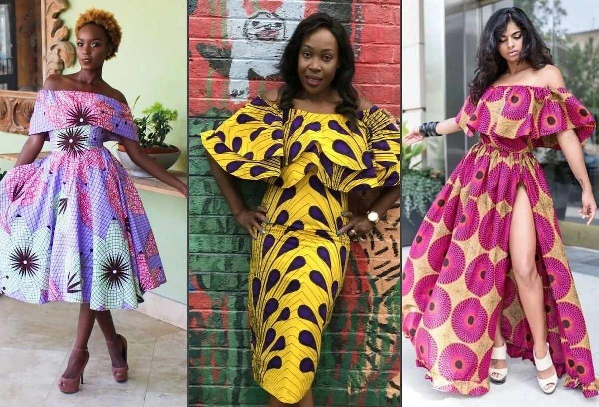 19766402a41 Latest off shoulder Ankara gowns ▷ YEN.COM.GH