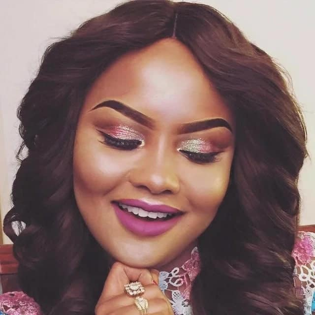 This is a beautiful butterfly-shaped eyebrow of actress Nana Ama McBrown