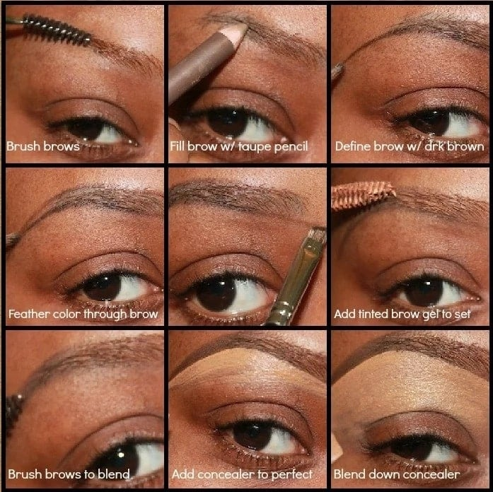 How to draw eyebrows step by step YEN.COM.GH