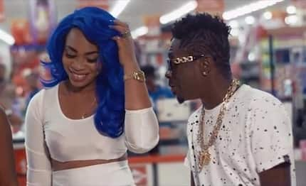 Wild video of Shatta Wale and Michy 'chopping love' in his new car excites fans