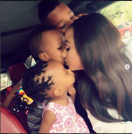 Video of Asamoah Gyan's wife playing with her children would touch your heart