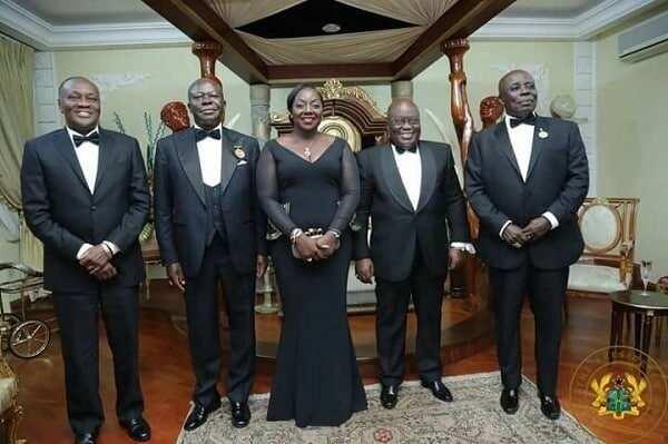 President Akufo-Addo interacts with Otumfuo, Okyehene
