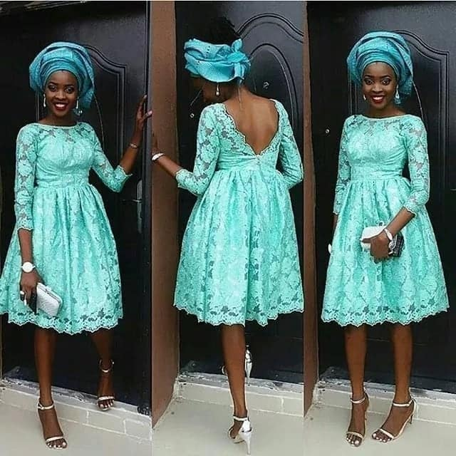 African lace dress designs