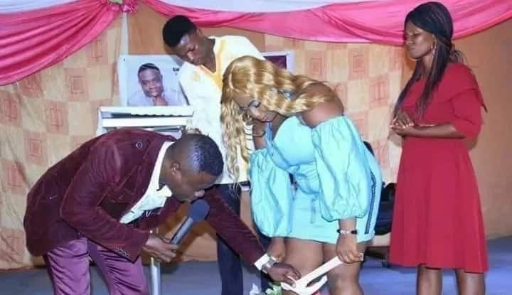 5 scandalous photos from panty removing pastor's church