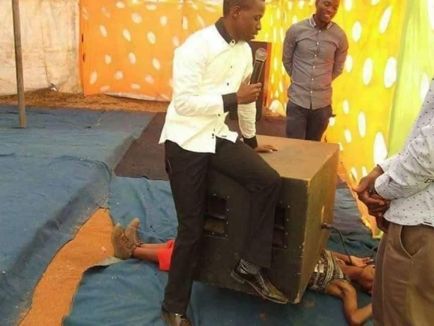 Incredible pictures of pastors performing 'miracles'