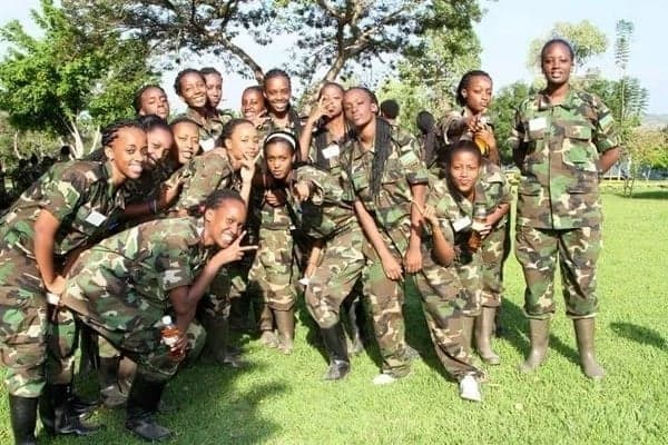 Military women advises civilian men to approach them for their own good