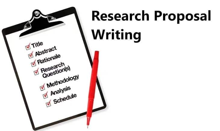format for proposal writing in research