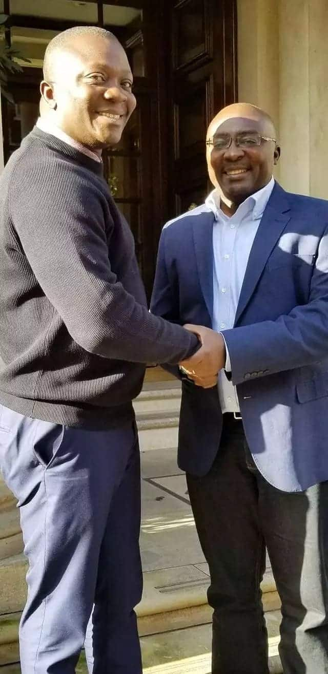 Vice President Dr Bawumia met Abetifi MP, Bryan Acheampong in London as was returning to Ghana