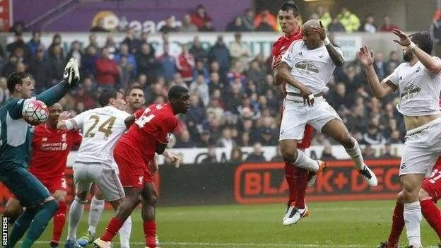 Andre Ayew brace earns Swansea 3-1 victory over Liverpool