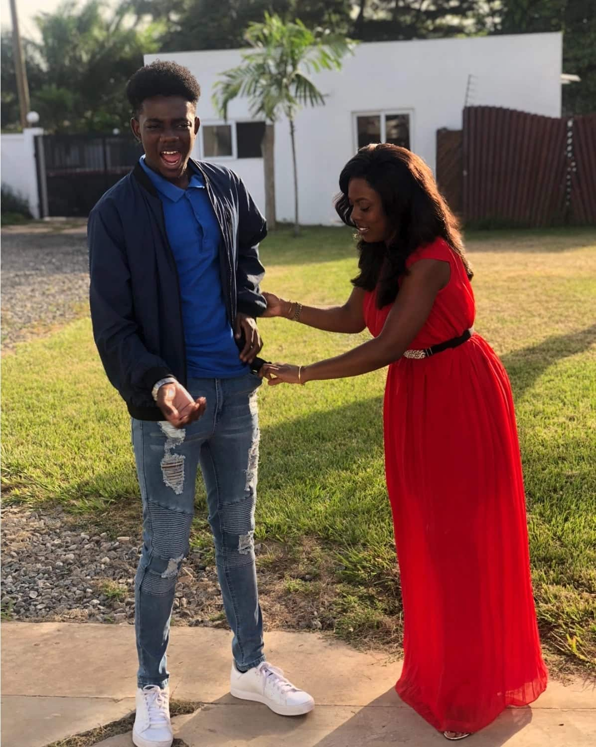 Latest photos of Nana Aba Anamoah's handsome son get fans drooling