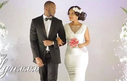 Dumas seen in a wedding dress in Rapper Lynxxx's music video