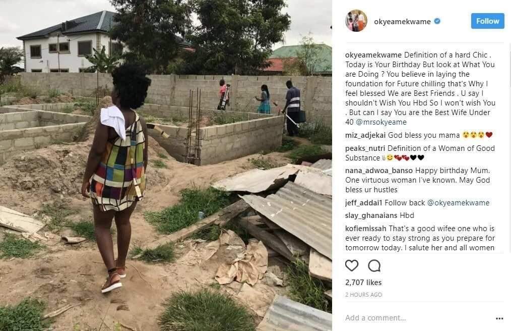 Okyeame Kwame celebrates wife on her birthday