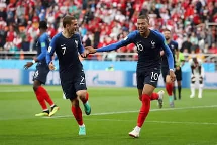 Mbappe is France's youngest scorer ever in a World Cup as France beat Peru 1-0 to progress at Russia 2018