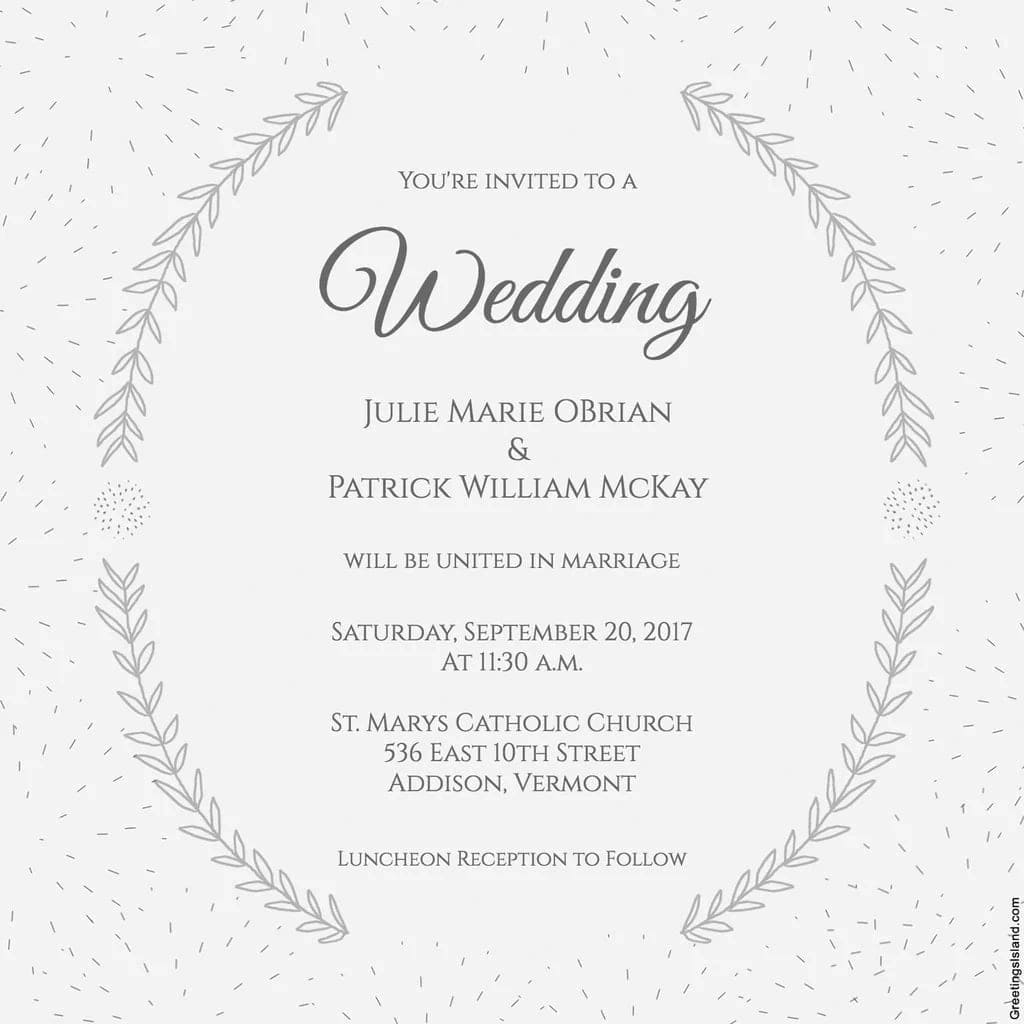 Simple Wedding Invitation Messages For Friends Personal Text Wording