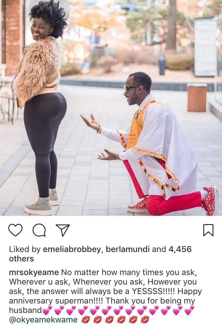 Annica's captivating message to her husband, Okyeame Kwame