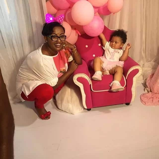 Ghana celebs turn up massively at Kafui Danku's daughter's party