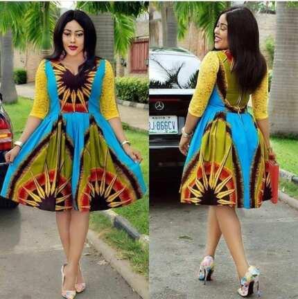 Ankara lace styles combinations