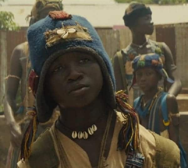 Strika when he starred in Beasts of No Nation at age 14. Photo credit: Mashable