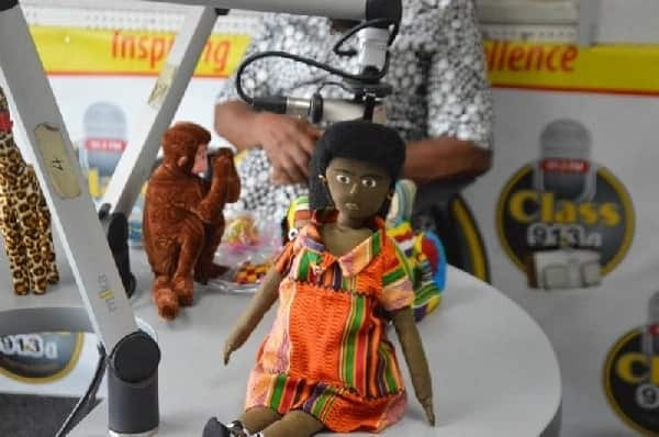 A stuffed toy being displayed in a shop