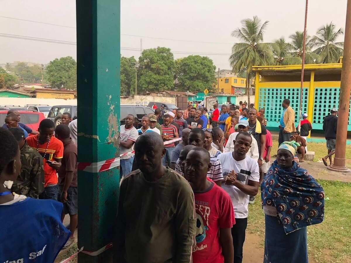 Former President Mahama in Liberia for Presidential run-off vote