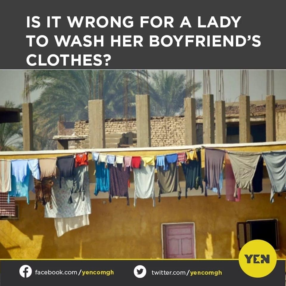 Social media poll: Ghanaians divided on whether it's right for ladies to wash clothes of their boyfriends
