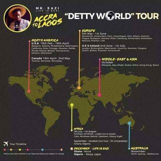 Mr Eazi Detty World Tour