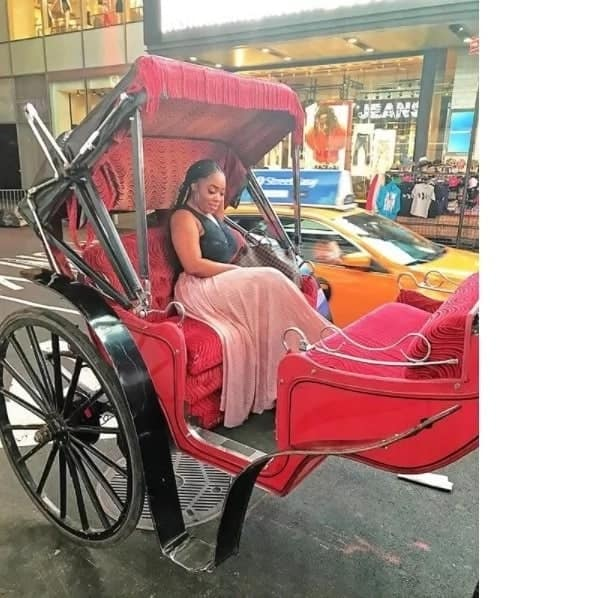 PHOTOS: Moesha Boduong shares her good times in the US on social media