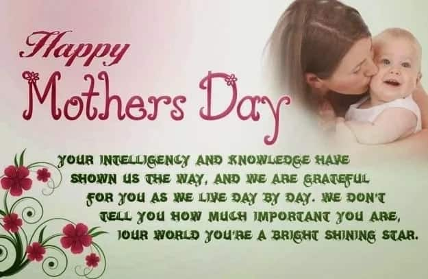 Sweet mothers day message from baby