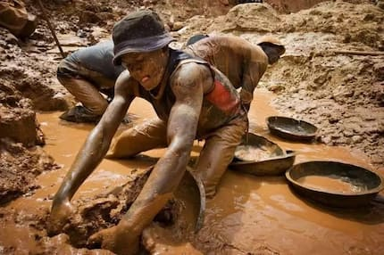 55-year old blind illegal miner; 3 others picked up by police in Bosomtwe for galamsey