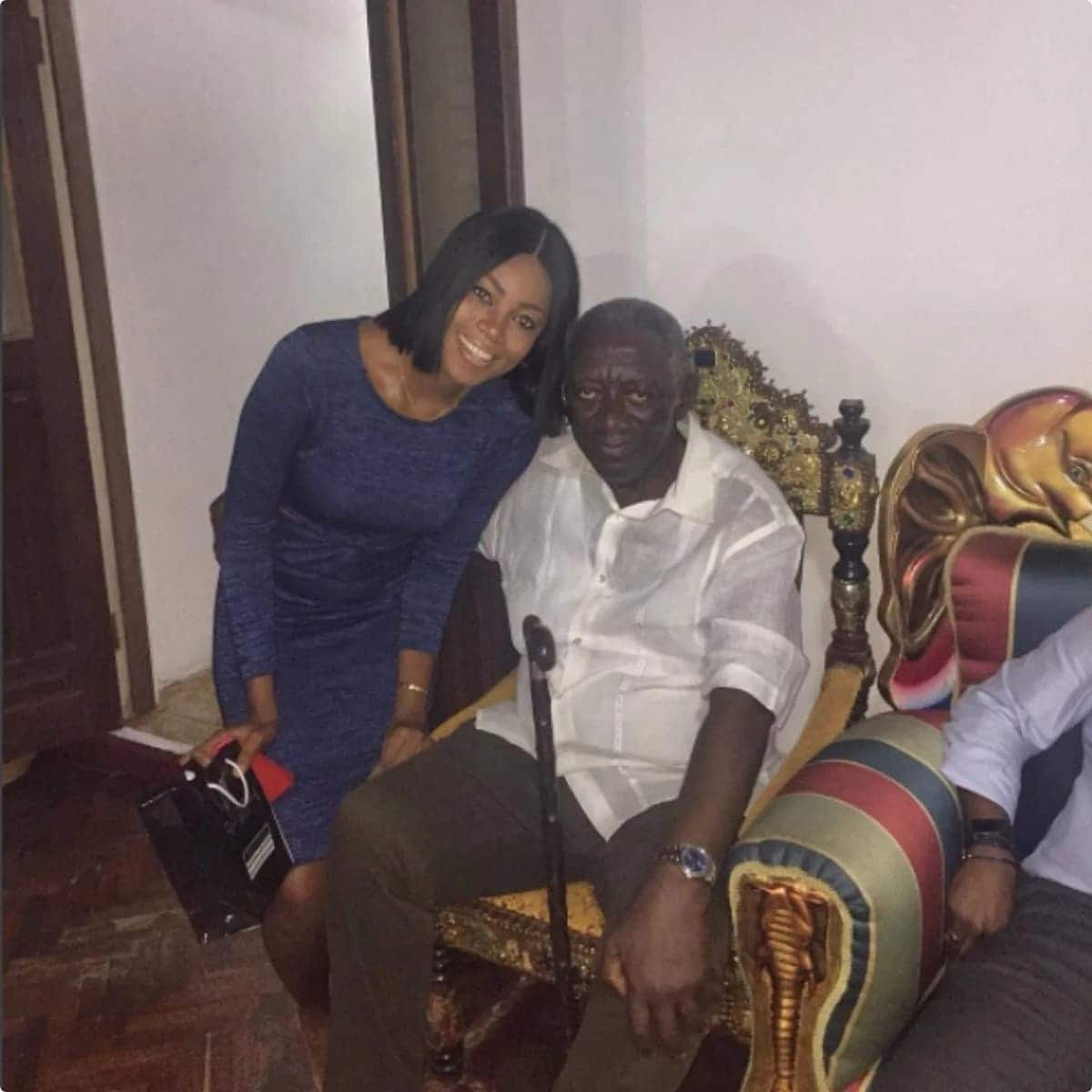Yvonne Nelson dazzles in latest picture with ex-president Kuffuor
