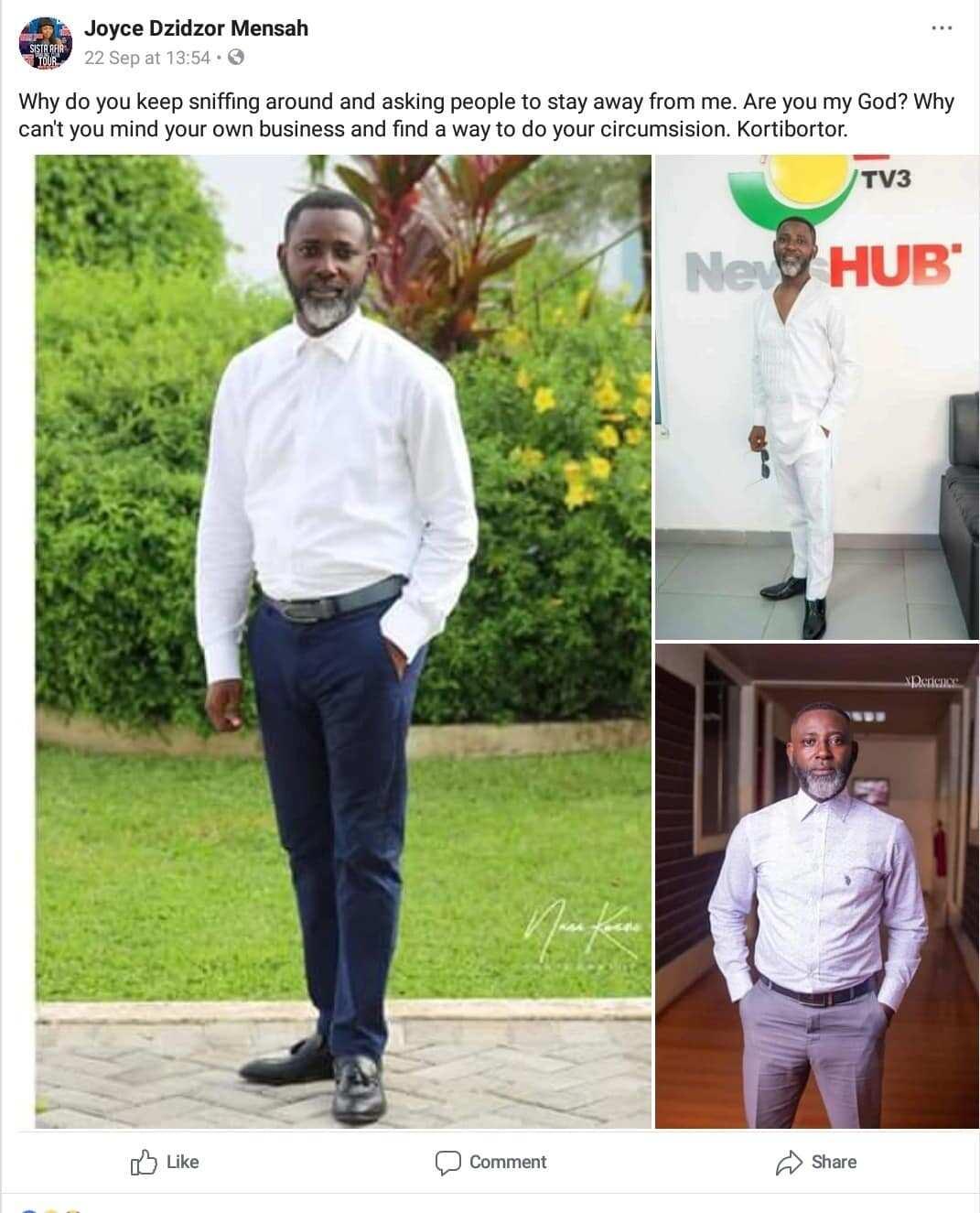Root Eye is an 'uncircumcised' man - Joyce Dzidzor Mensah claims