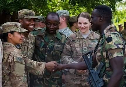 Photos of US soldiers eating snake in Ghana causes chaos on social media