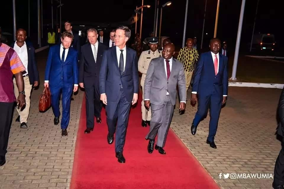 Bawumia welcomes netherlands prime minister
