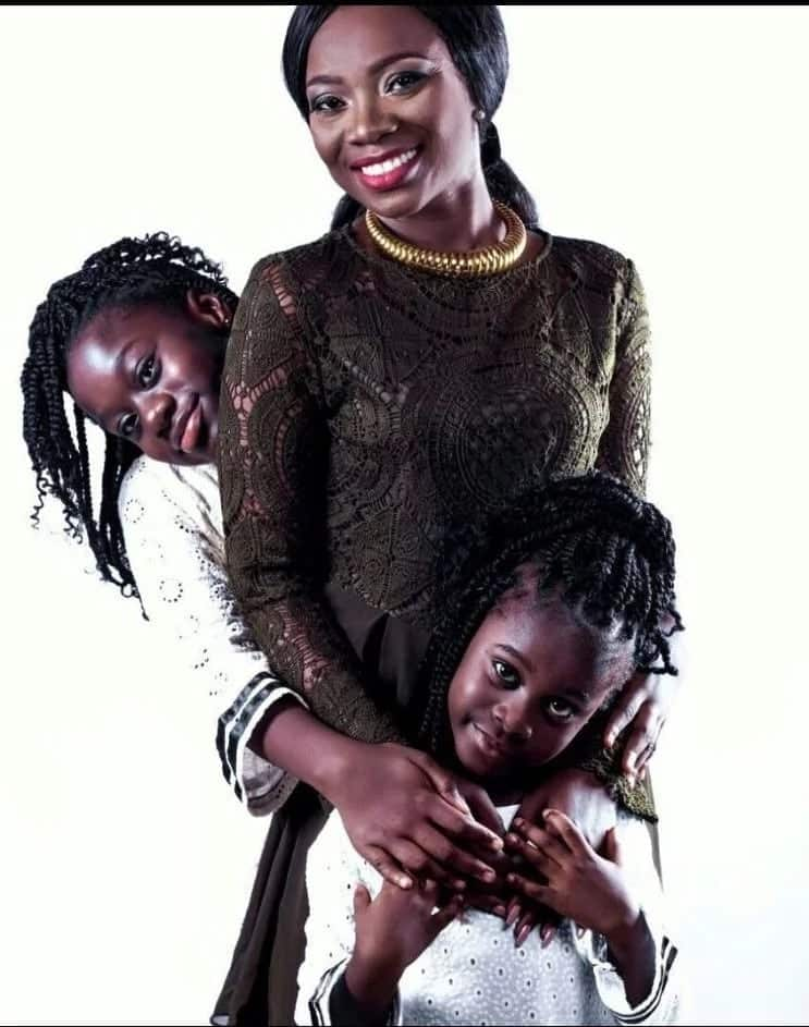 Stacy Amoateng in photo with her two daughters