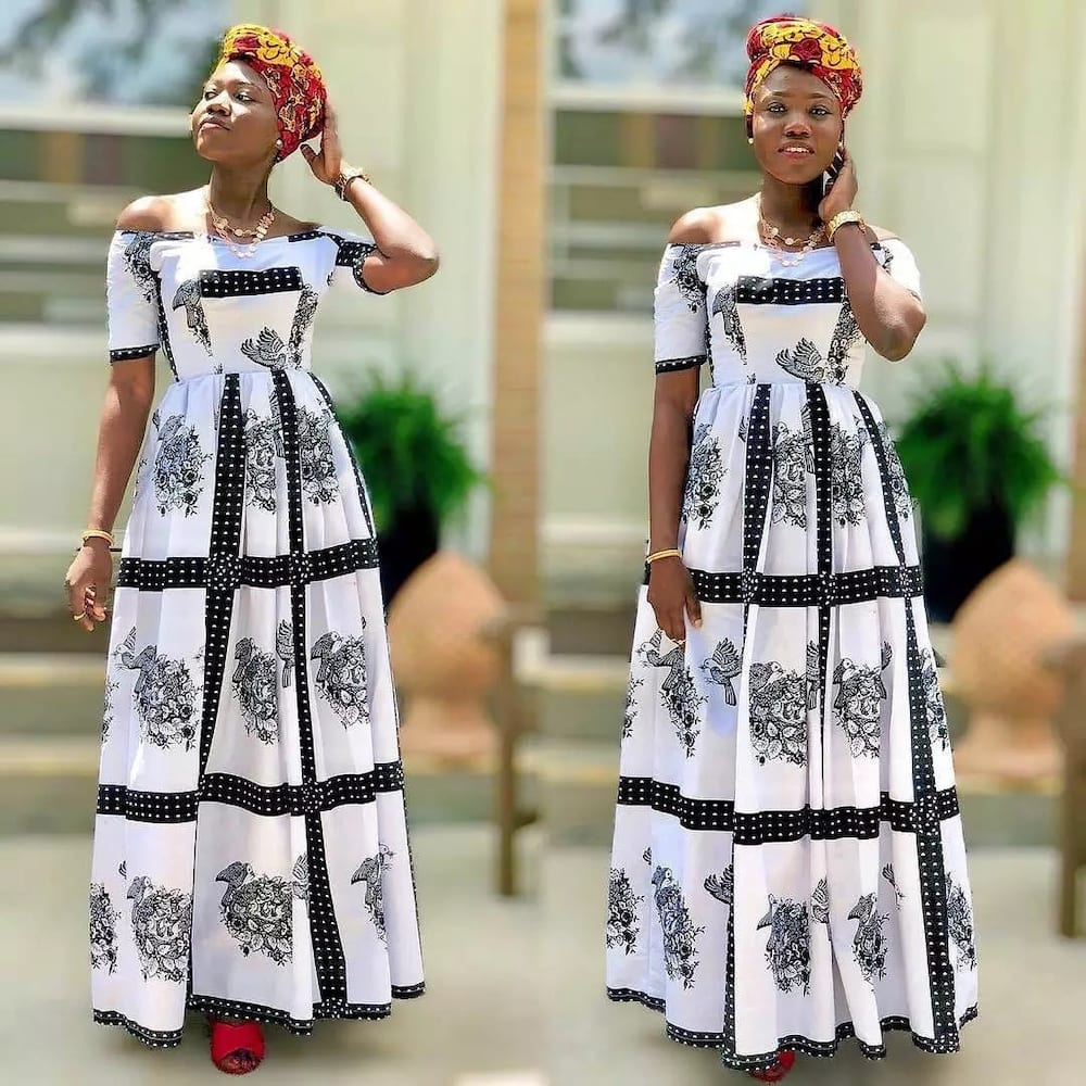 58d1a1738cb Jeans Short Gown With Ankara Patches - Gomes Weine AG