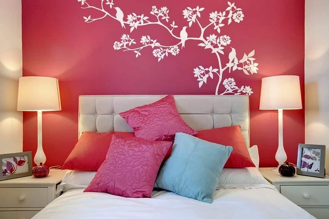 Pink Painting Designs For Rooms