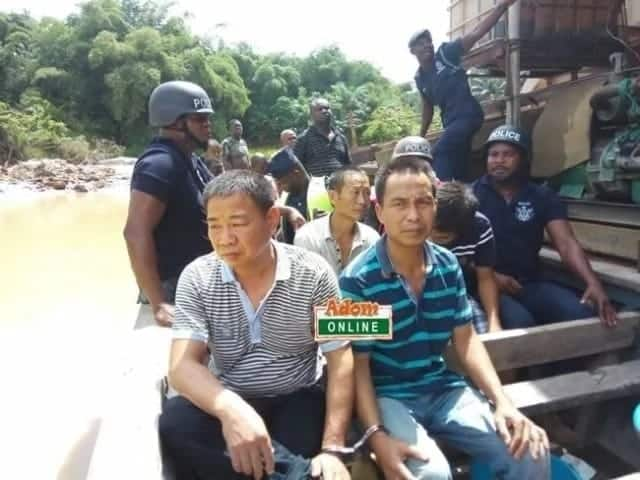 Police re-arrest 5 Chinese galamseyers just days after they way granted bail