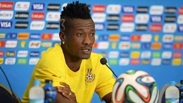 Asamoah Gyan speaking