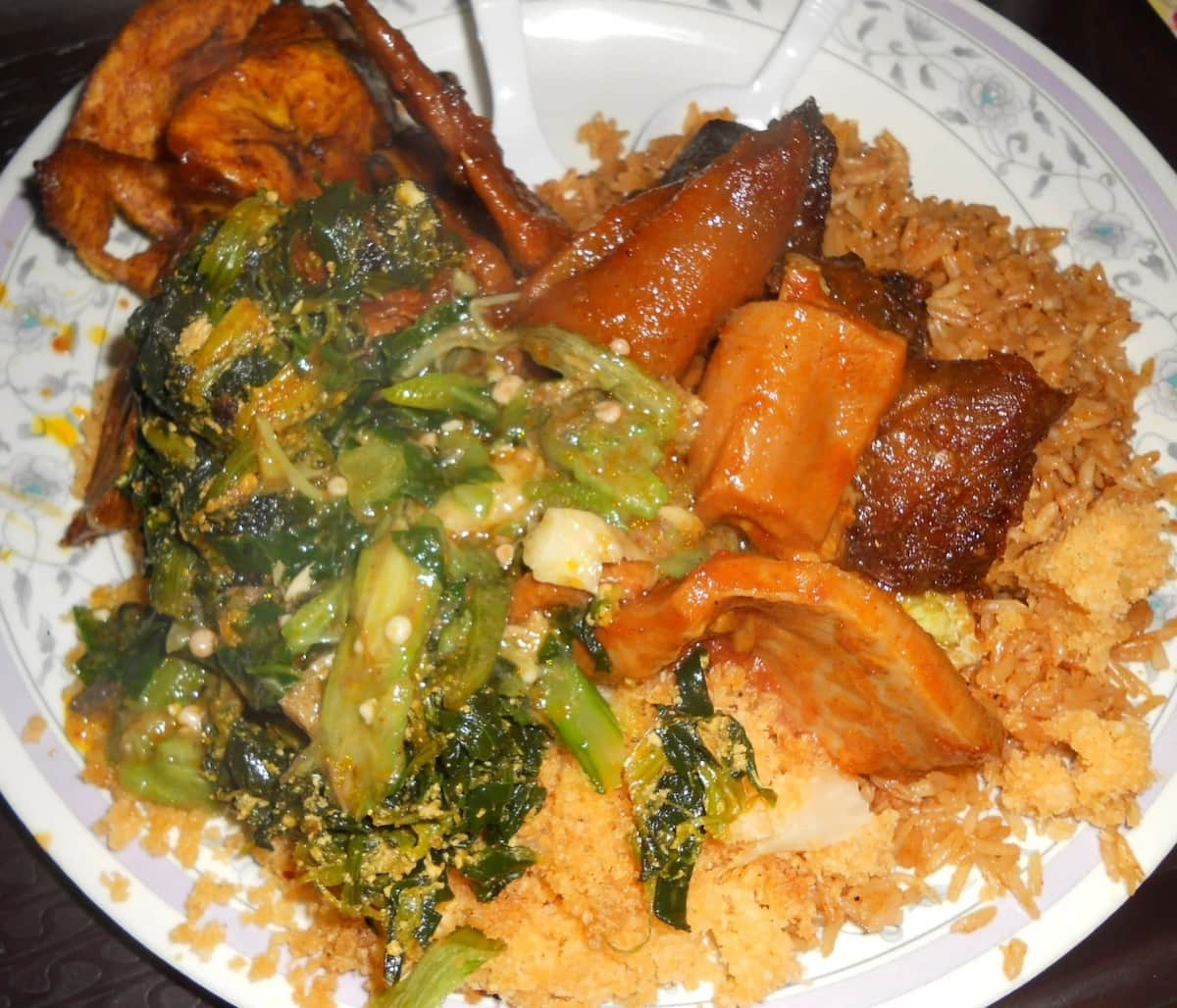 local Ghanaian dishes
