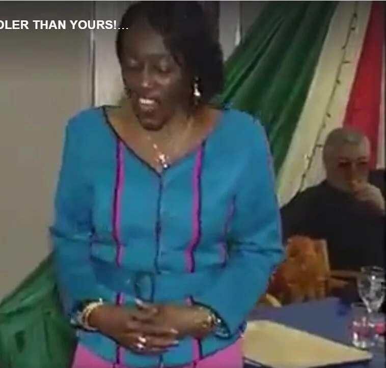 Four years ago: Nana Konadu Agyeman-Rawlings dances as husband looks on