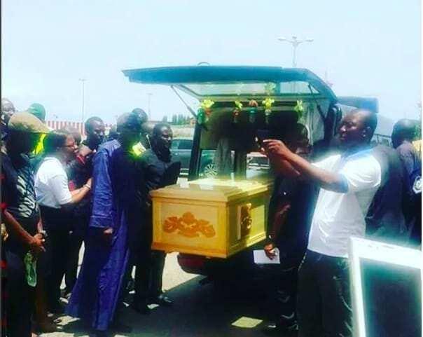 Body of Nii Odoi Mensah arrives in Ghana