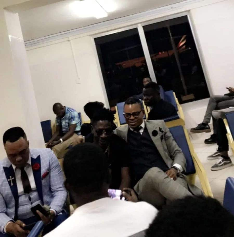 Shatta Wale captured on camera having fun with Bishop Obinim