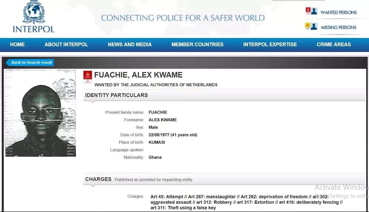 The 2 most wanted Ghanaians on Interpol list